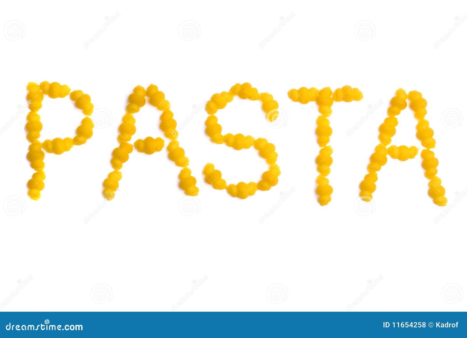 Pasta Word Royalty Free Stock Photos Image 11654258