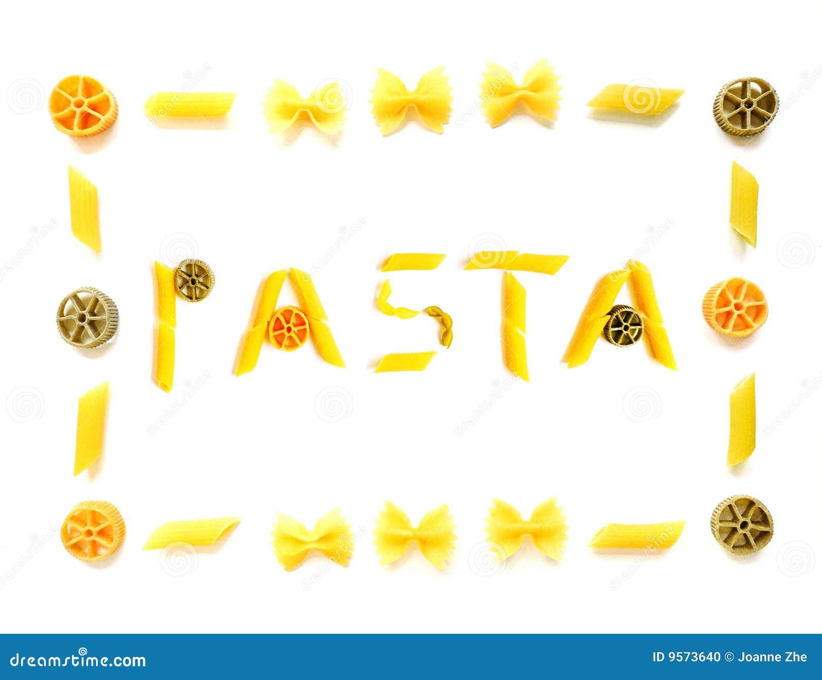 pasta word with frame stock photo 9573640 megapixl