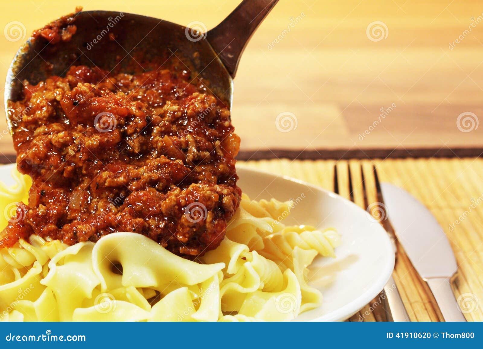 Pastas boloñés