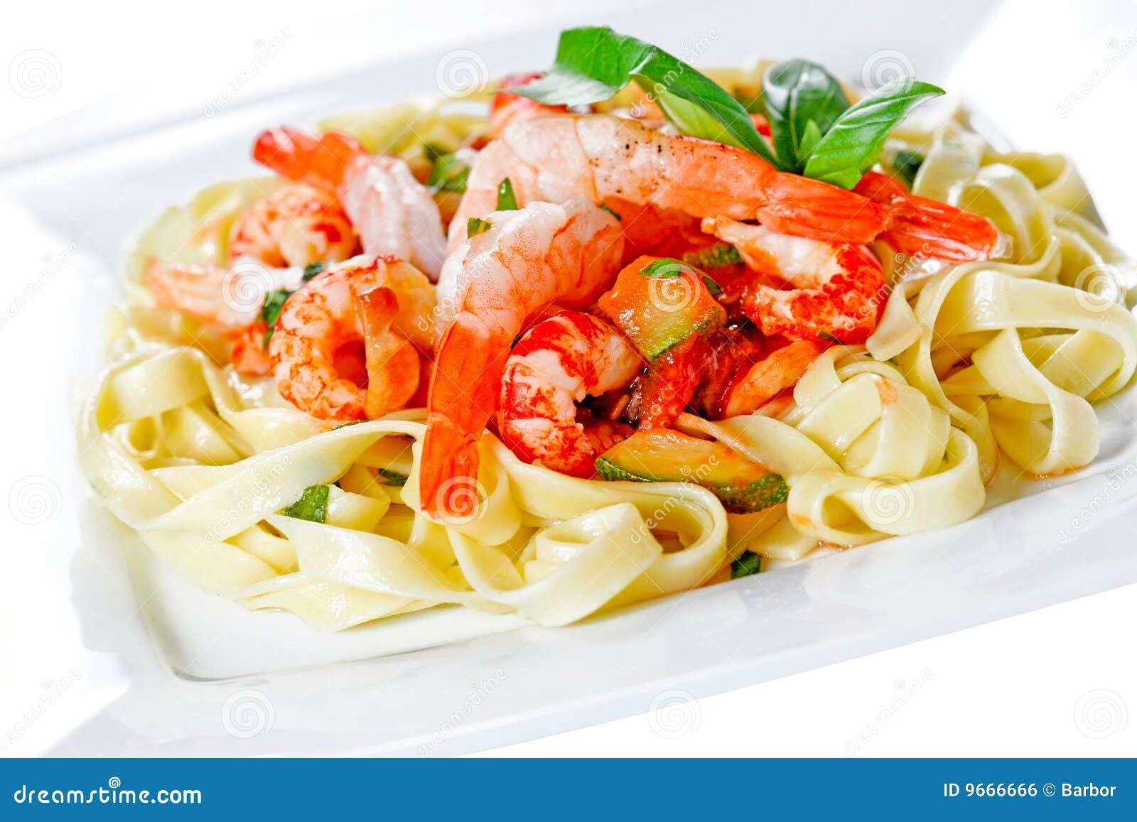 Pastas del alimento de mar