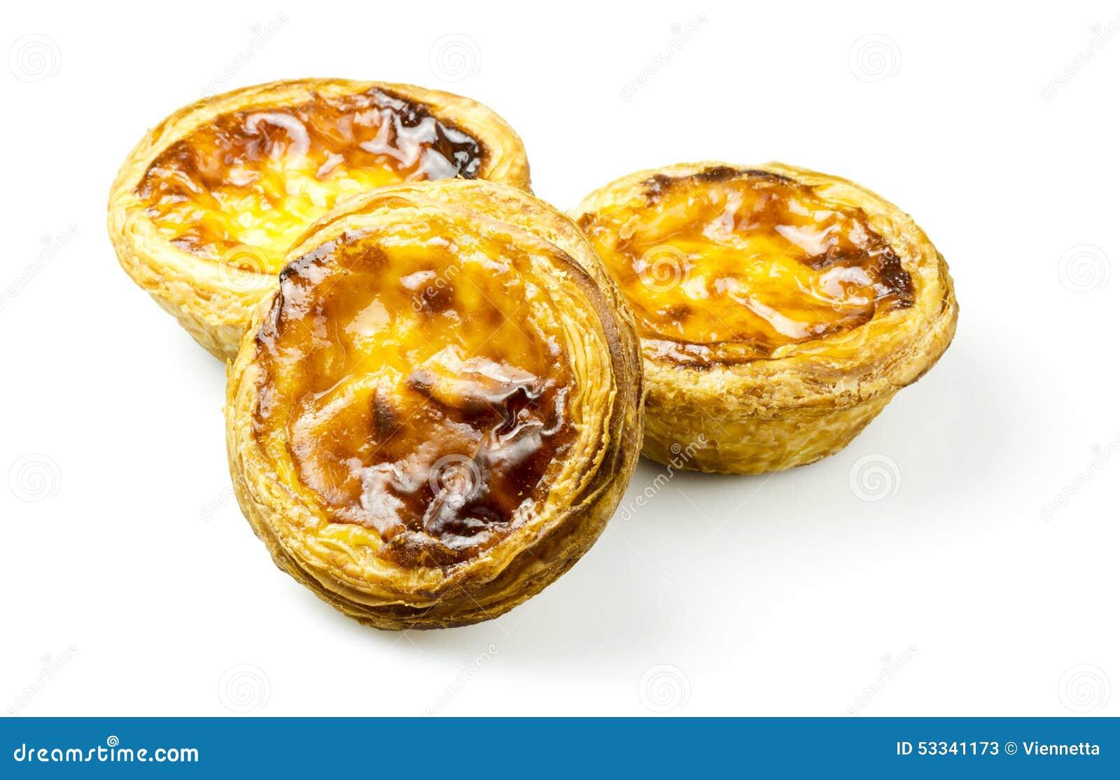 Pasteis De Nata Of Portugese Vlataartjes Stock Afbeelding