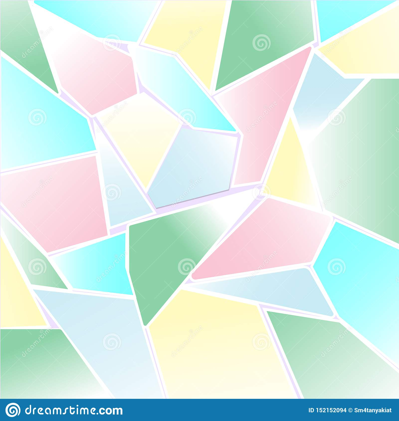 Abstract Pastel colorful polygon and mosaic background