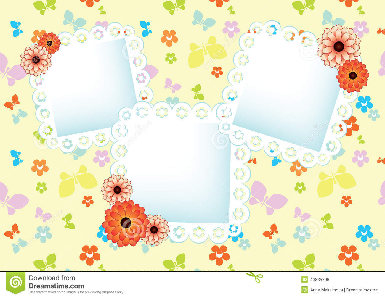Pastel background with lace frames stock vector image 43835806 - Pastel lace wallpaper ...