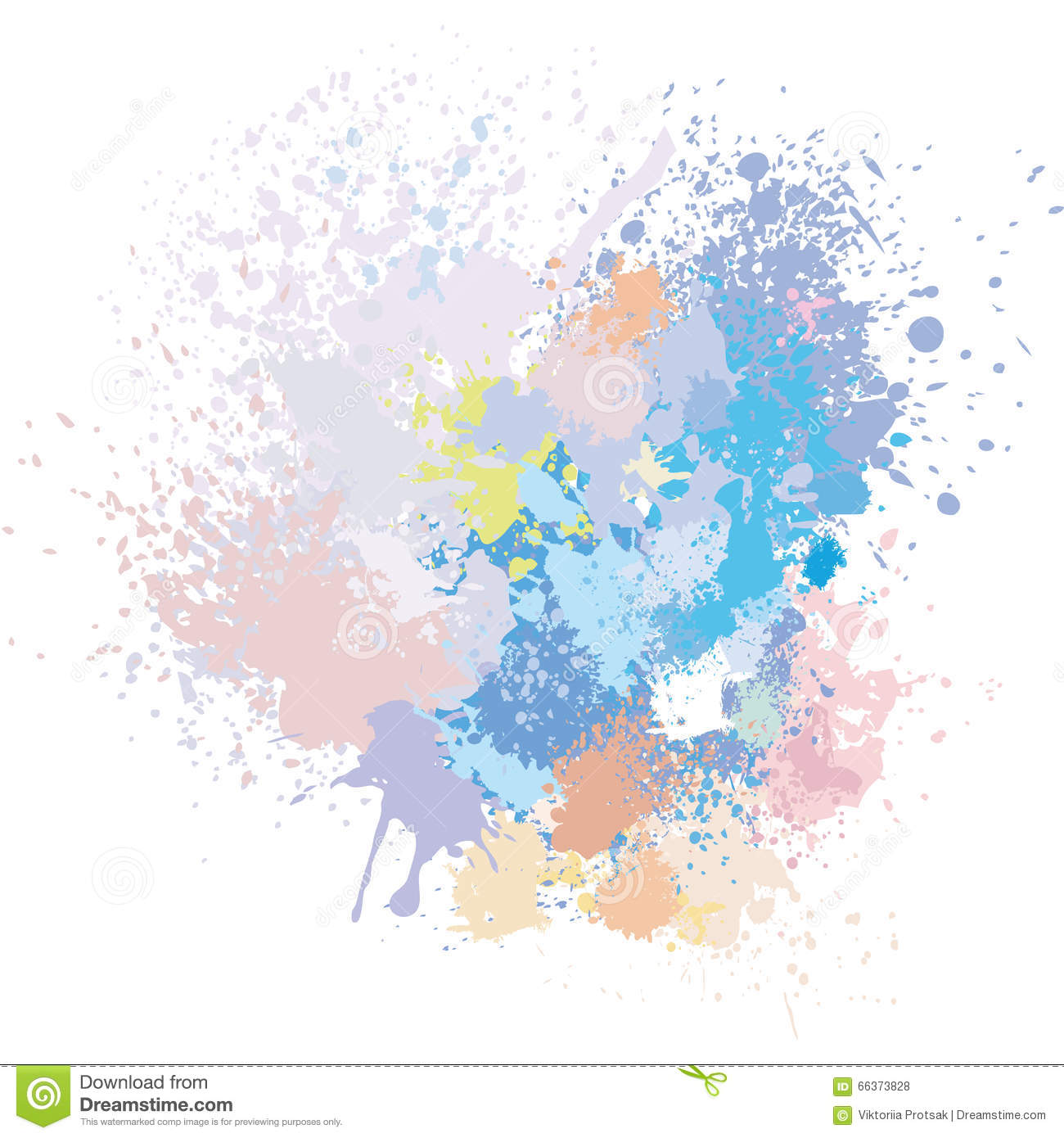 Pastel Background Of Paint Splashes Stock Vector - Illustration: 66373828