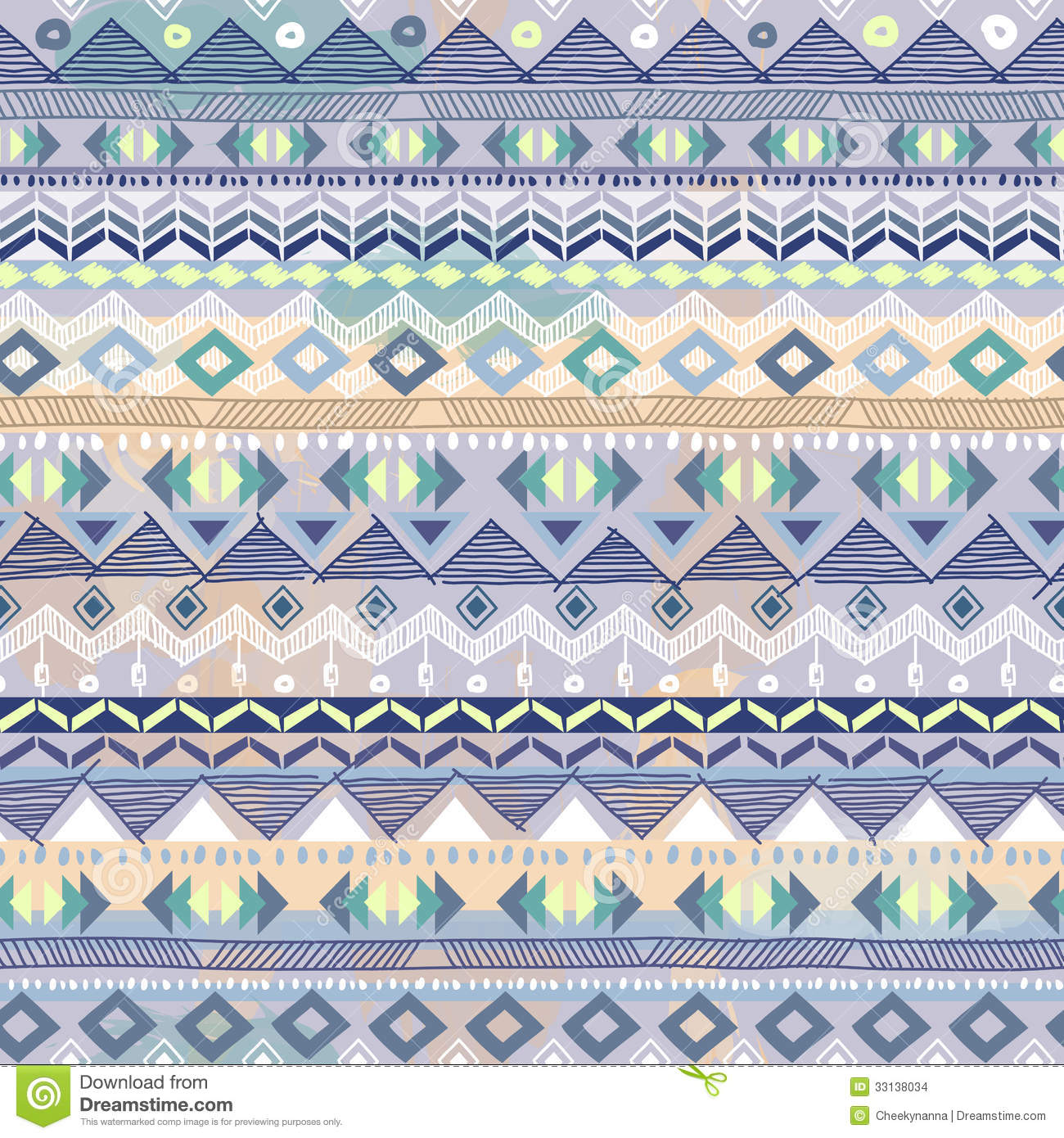 Blue Tribal Wallpapers: Pastel Blue Aztec Print Stock Images
