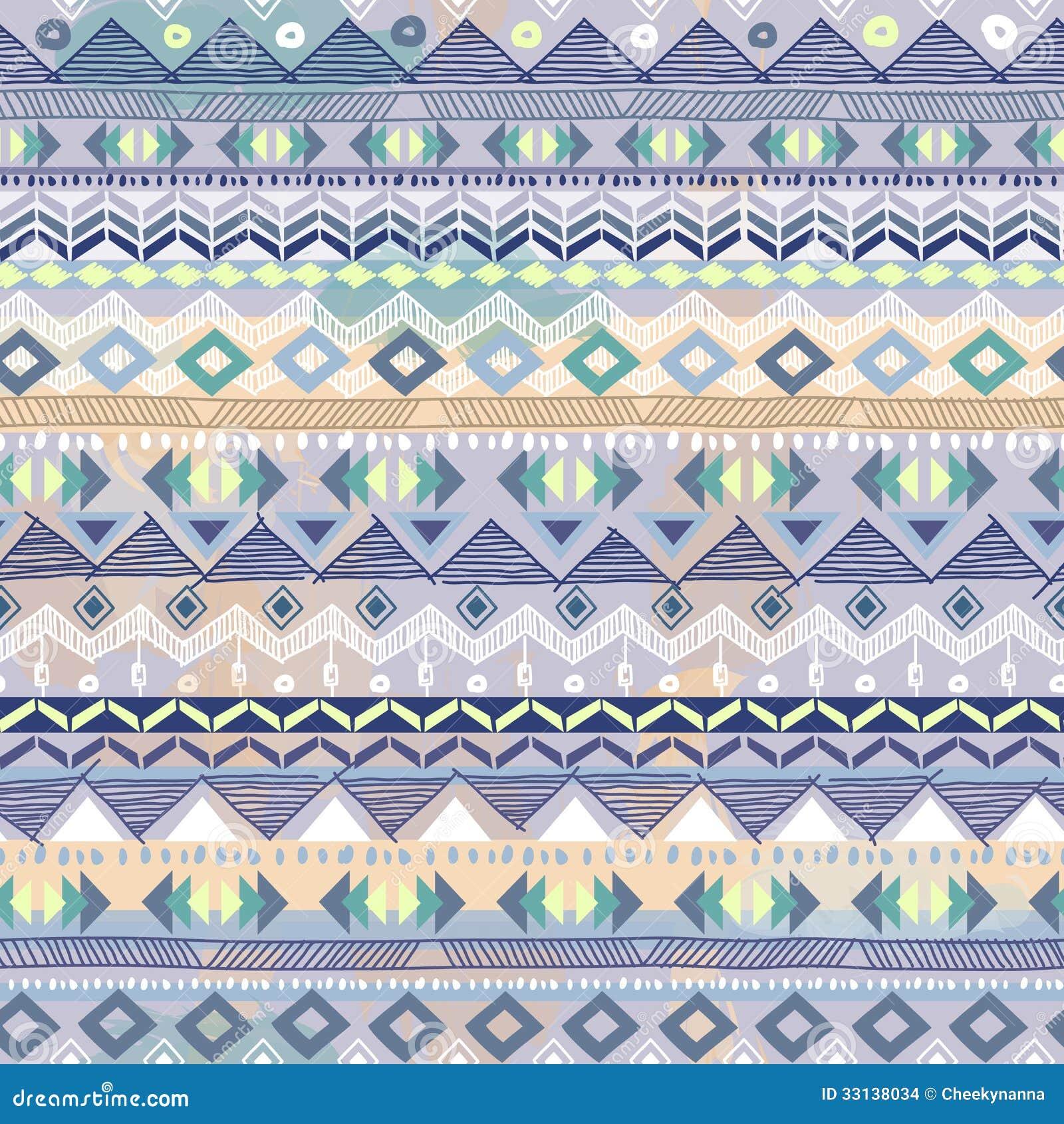 Pastel Blue aztec print Pastel Aztec Pattern Wallpaper