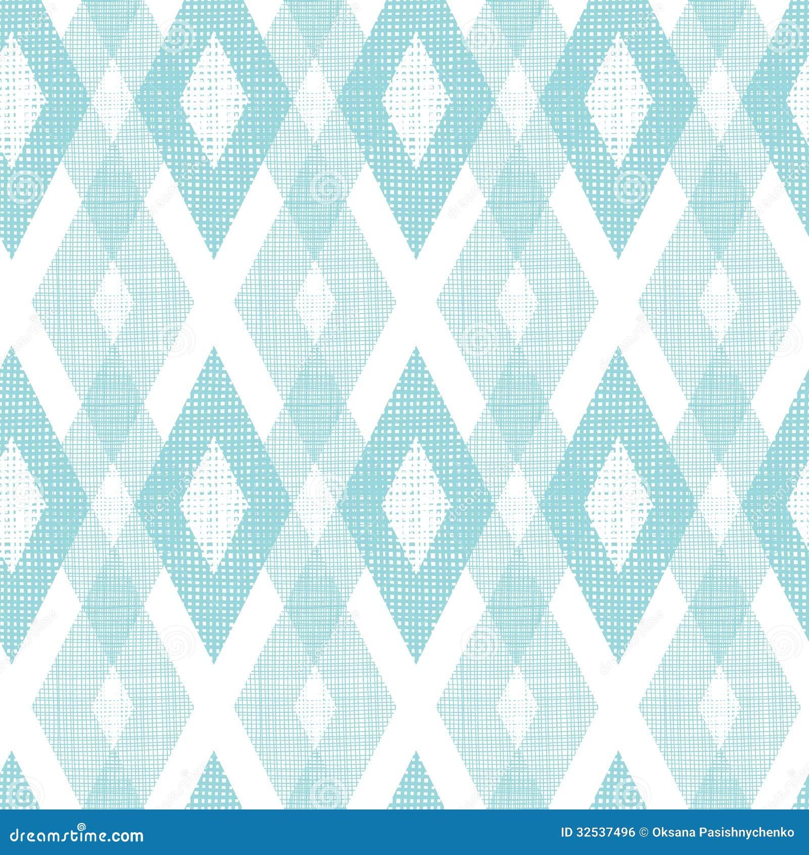 Pastel blue fabric ikat diamond seamless pattern