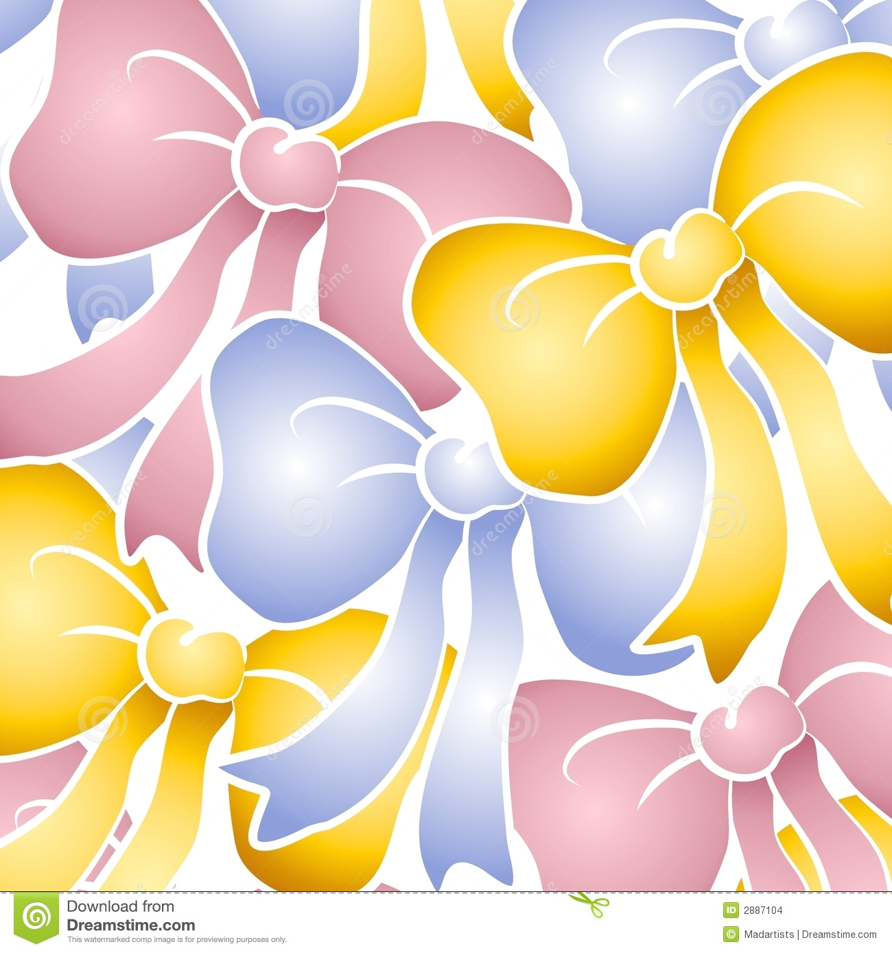 Pastel Bows Background Pattern Stock Images - Image: 2887104