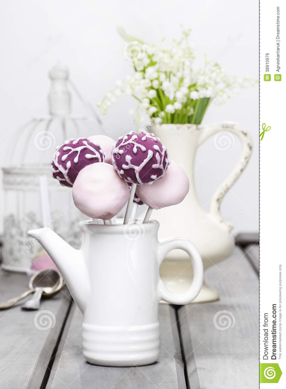 Pastel cake pops on rustic grey wooden table stock photo image of pastel cake pops on rustic grey wooden table izmirmasajfo