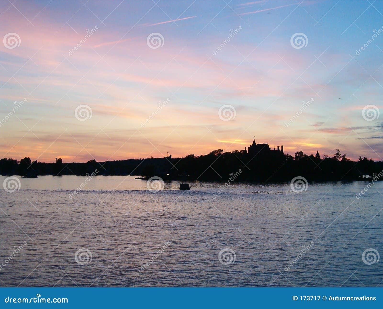 Pastel castle in the sky