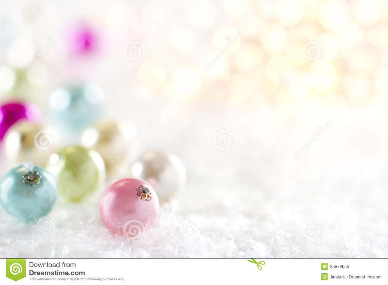 Pastel Color Christmas Bauble Decoration Royalty Free