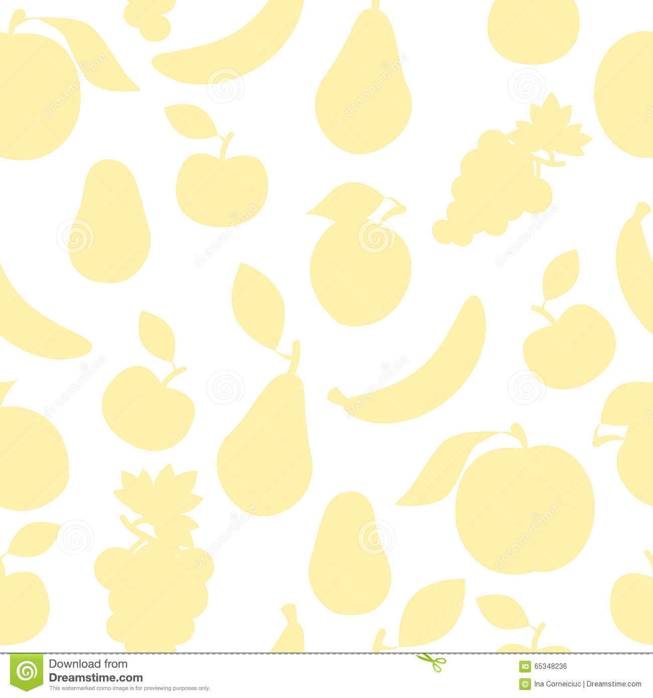 Pastel Color Fruit Pattern Stock Vector Image Of Green