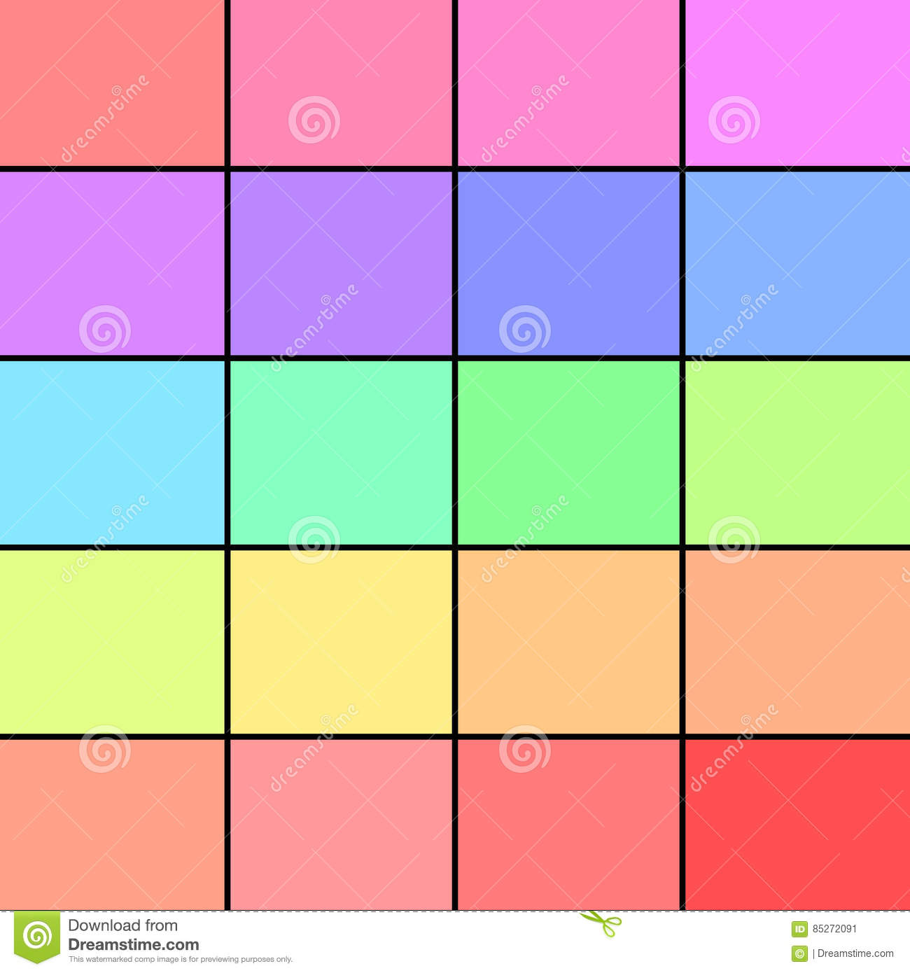 Pastel Color Palette: Pastel Color Palette Stock Illustration. Illustration Of