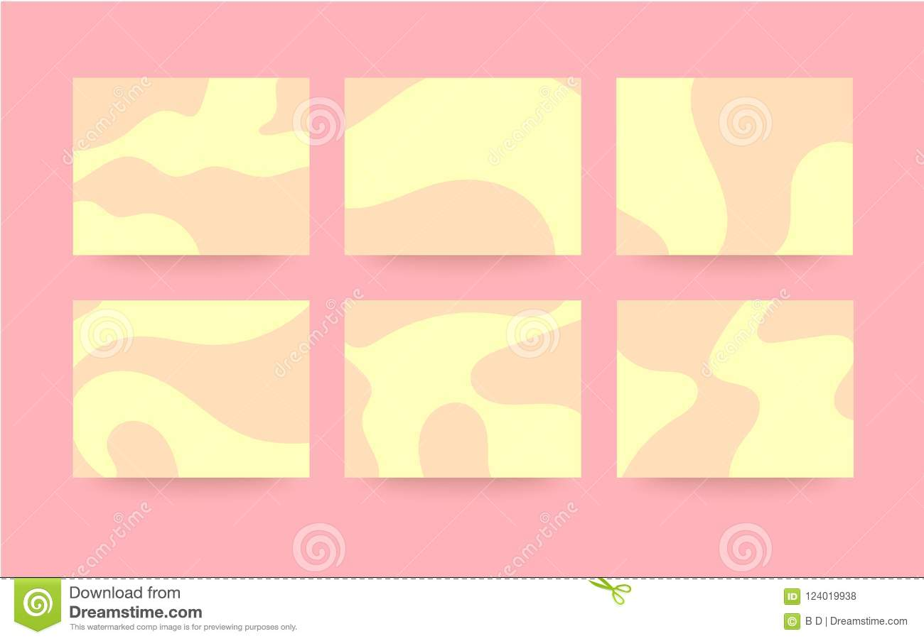 pastel color waves background for powerpoint stock vector