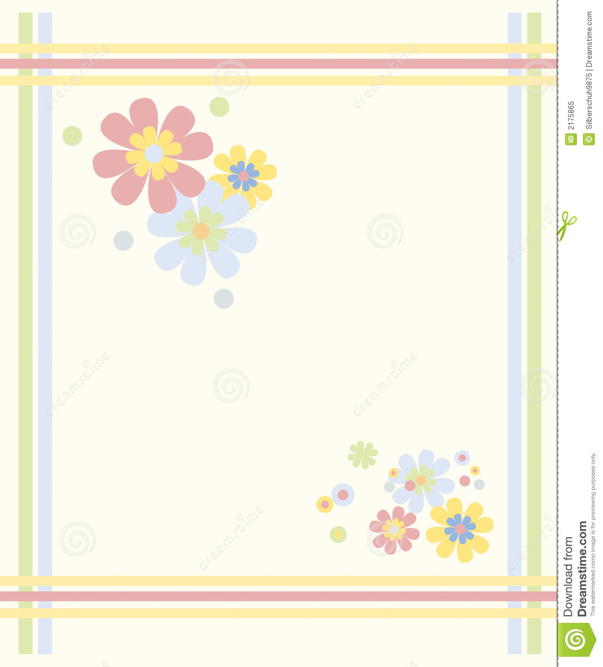 Pastel Colored Flower Frame Royalty Free Stock Photo