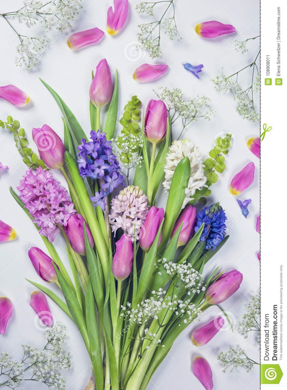 Pastel colored flowers