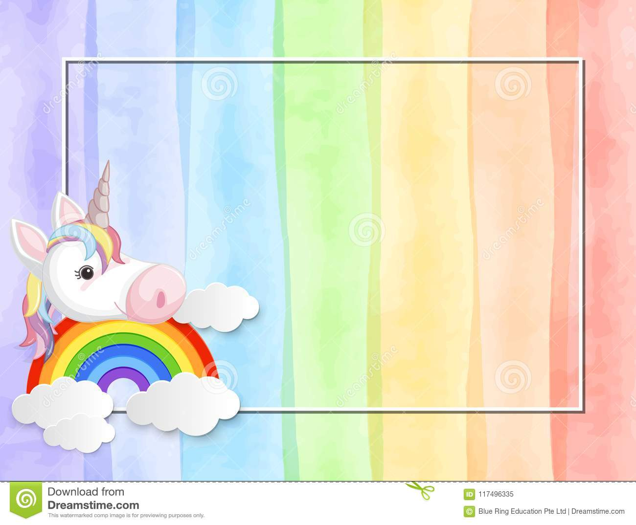 0420f296041 A Pastel Colour Unicorn Background Stock Vector - Illustration of ...