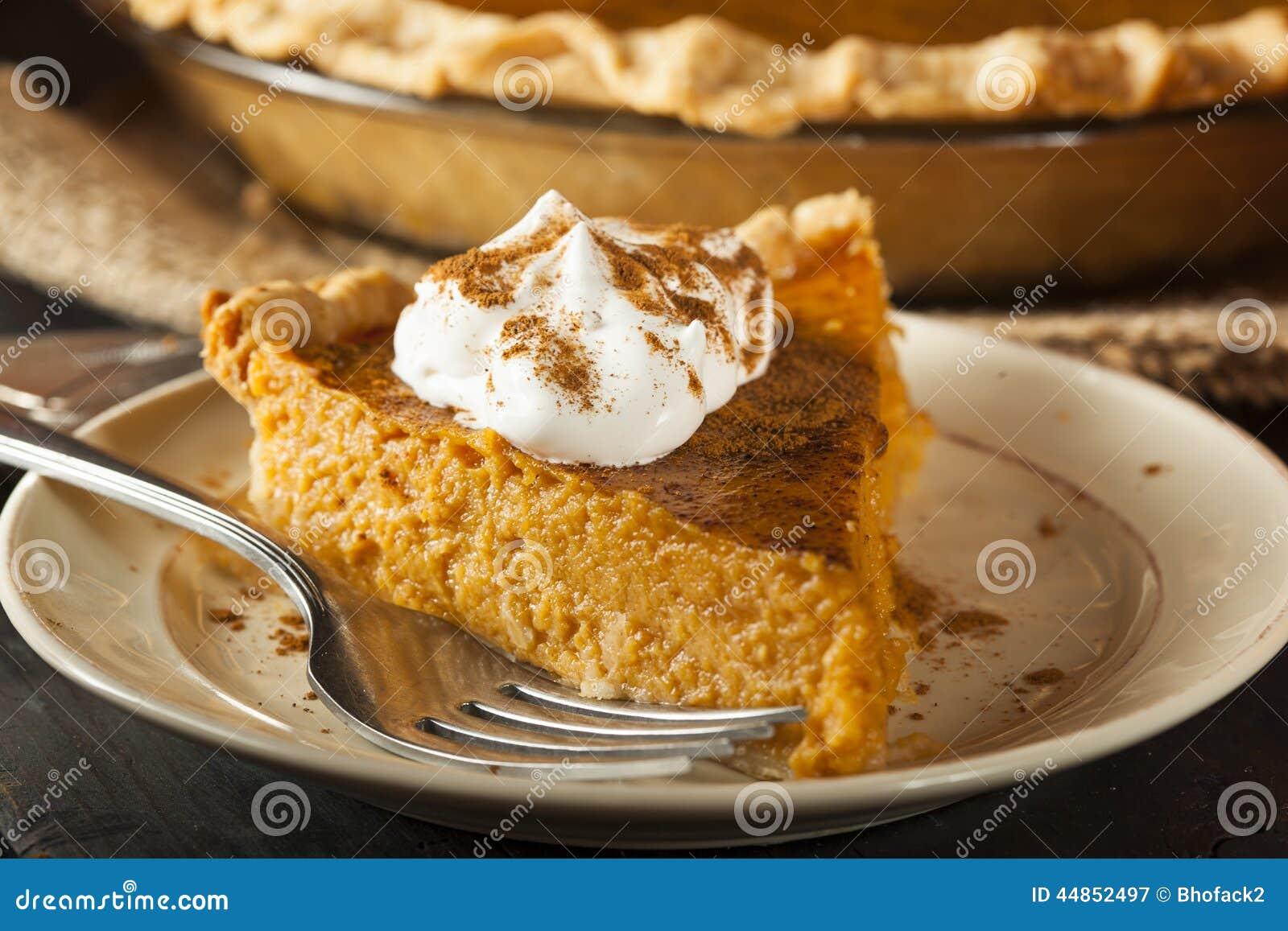 Pastel de calabaza hecho en casa para Thanksigiving