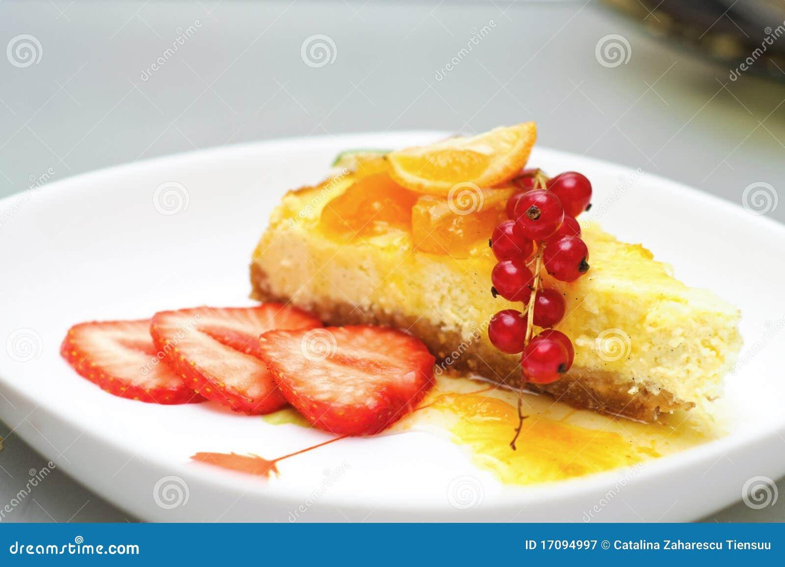 Pastel de queso de la vainilla