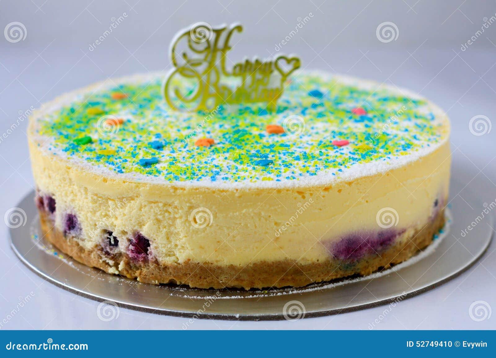 Pastel de queso del arándano