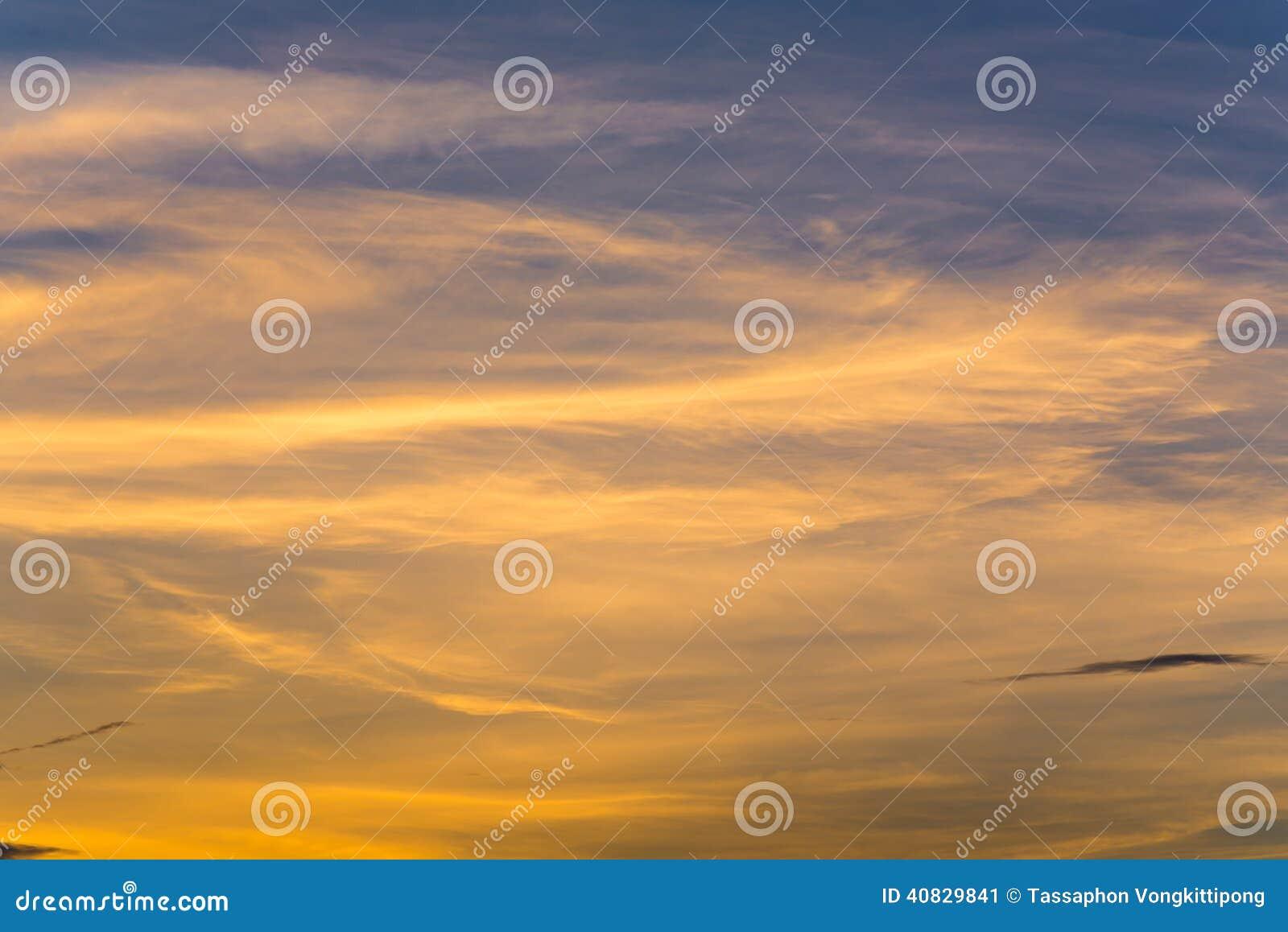 Pastel del cielo de la nube