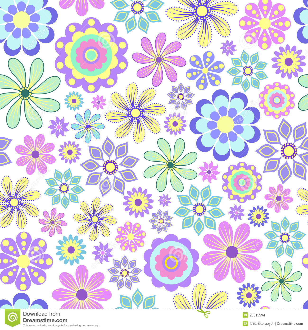 Pastel Flower On White Background. Stock Images - Image: 26015594