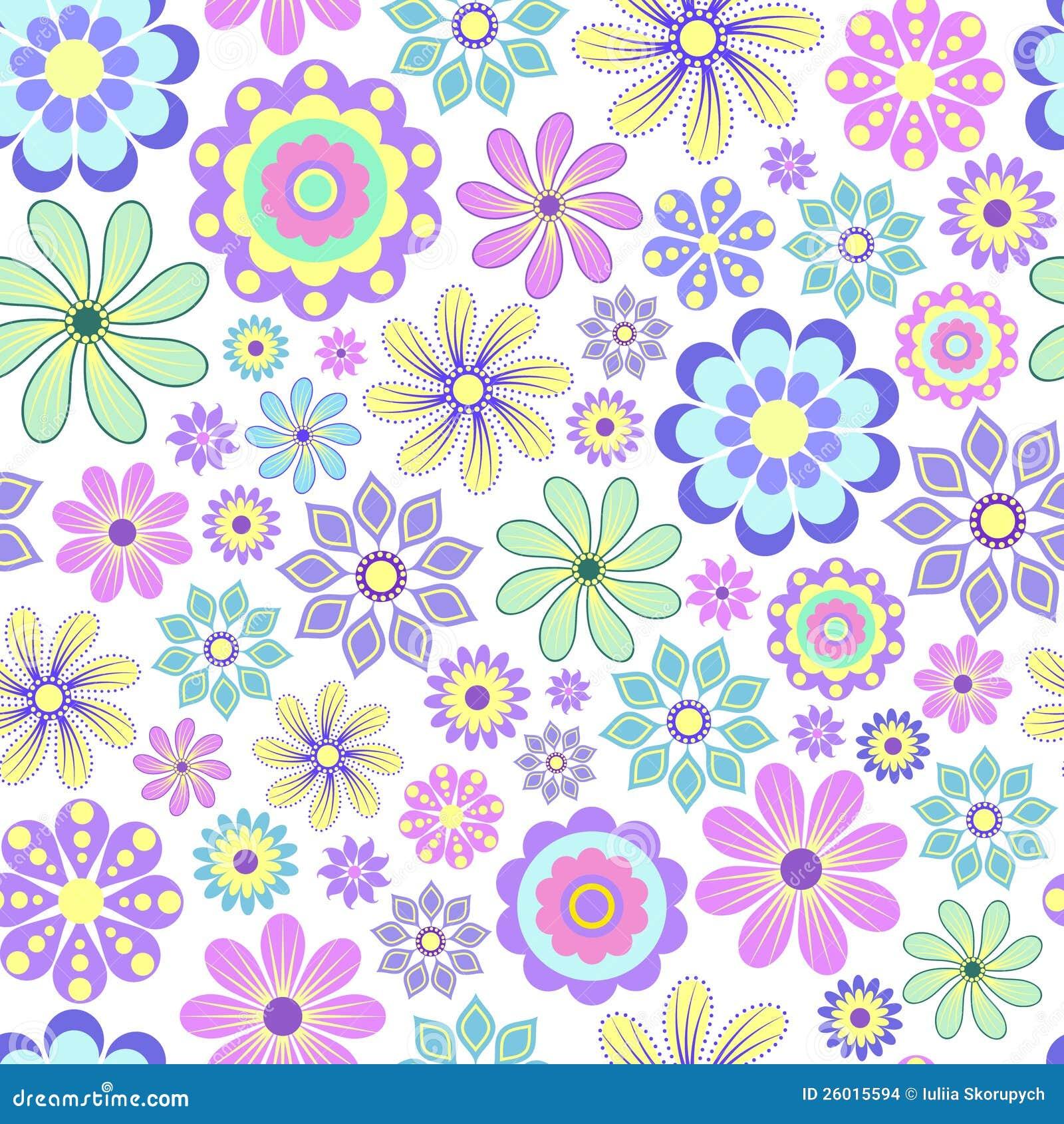 Pastel Flower On White Background. Stock Vector