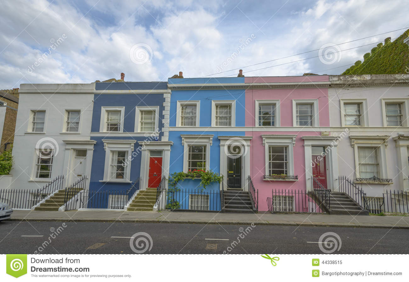 Pastel houses notting hill london stock image image for House notting hill