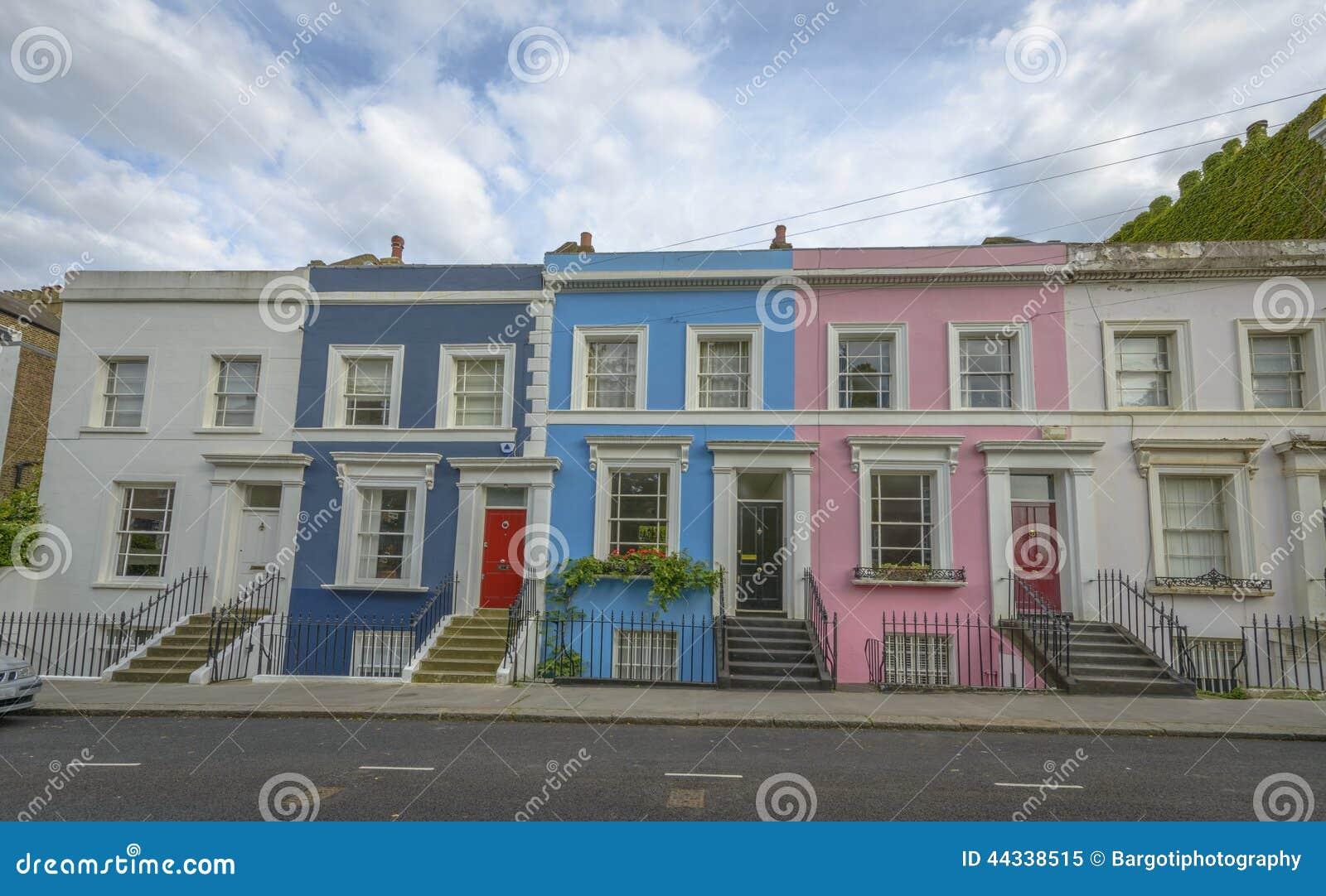 pastel houses notting hill london stock photo image