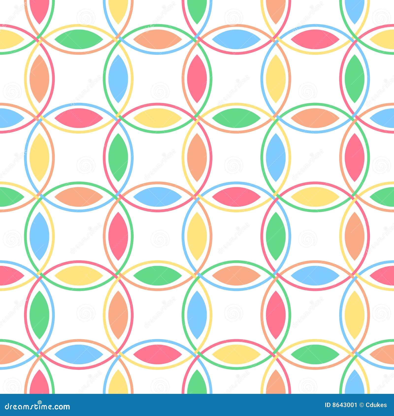 Pastel Interlocking Circles