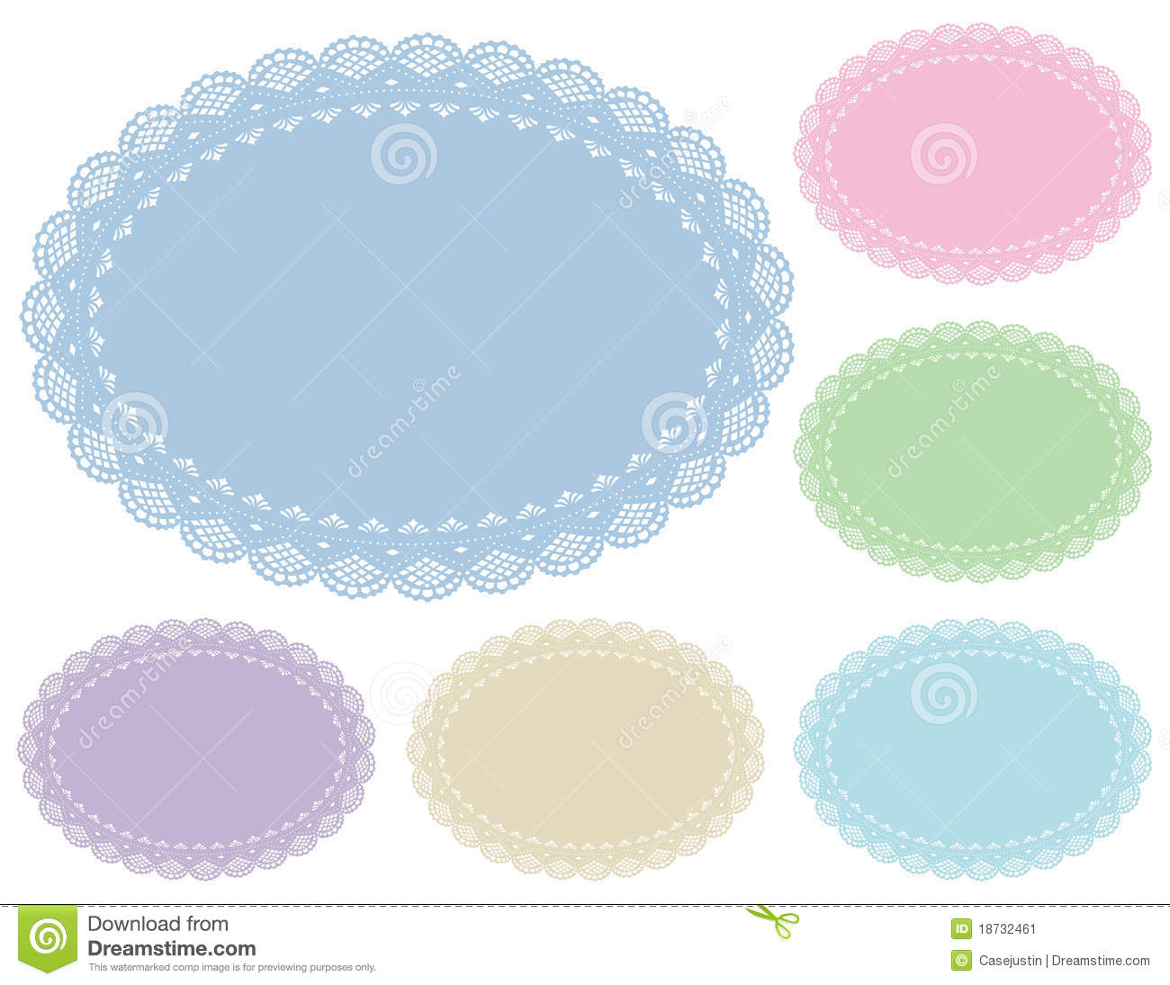Pastel Lace Doily Place Mats Stock Image Image 18732461