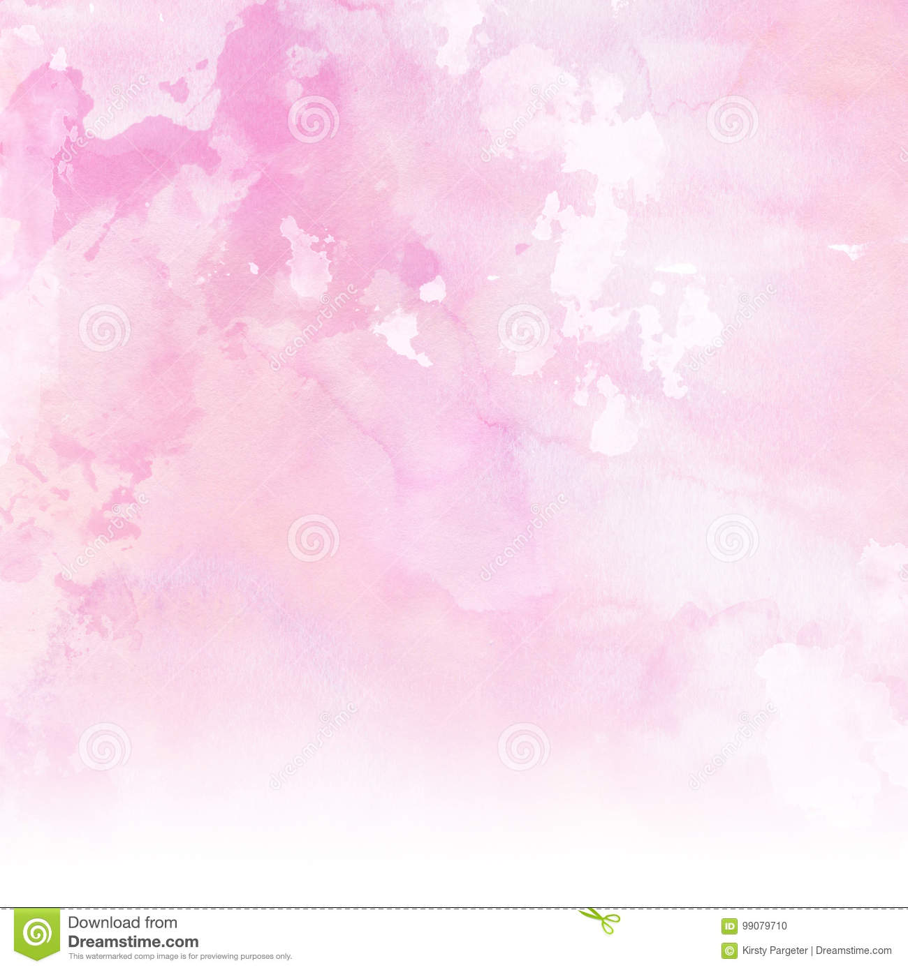 Pastel Pink Watercolour Background Texture Gambar Vektor Princess