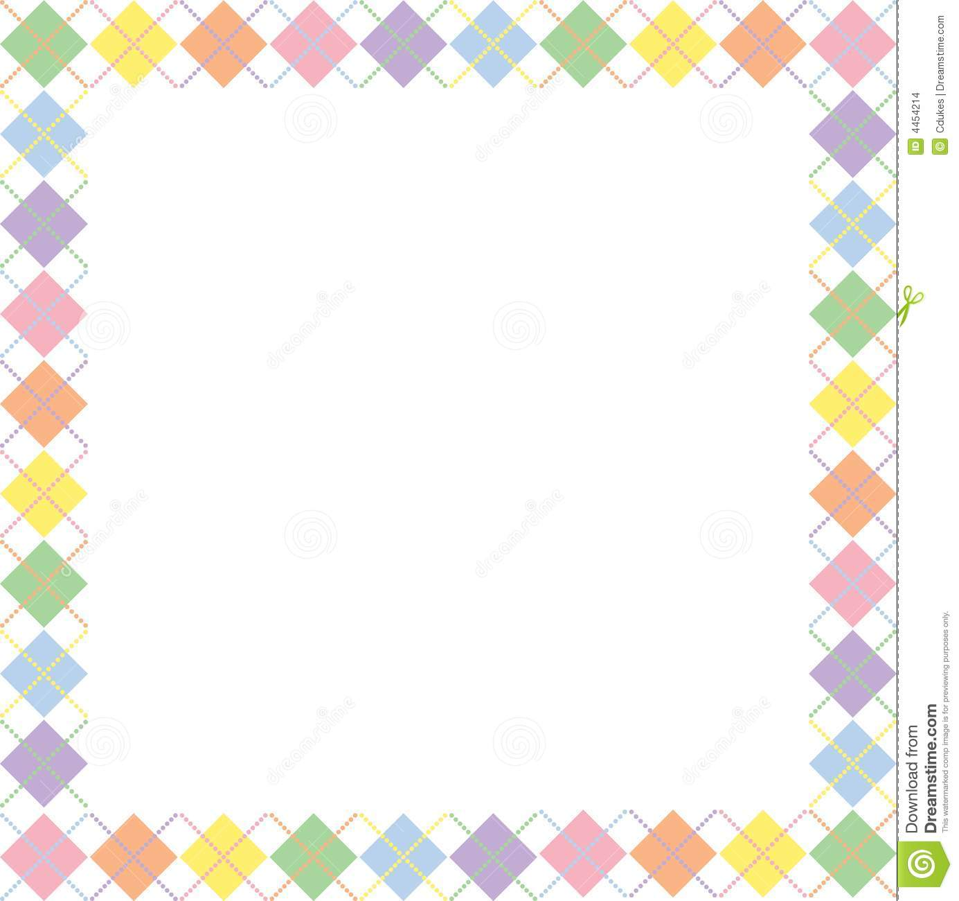 Stock Images Pastel Rainbow Argyle Border Image4454214 on Yellow Objects Clipart For Kids