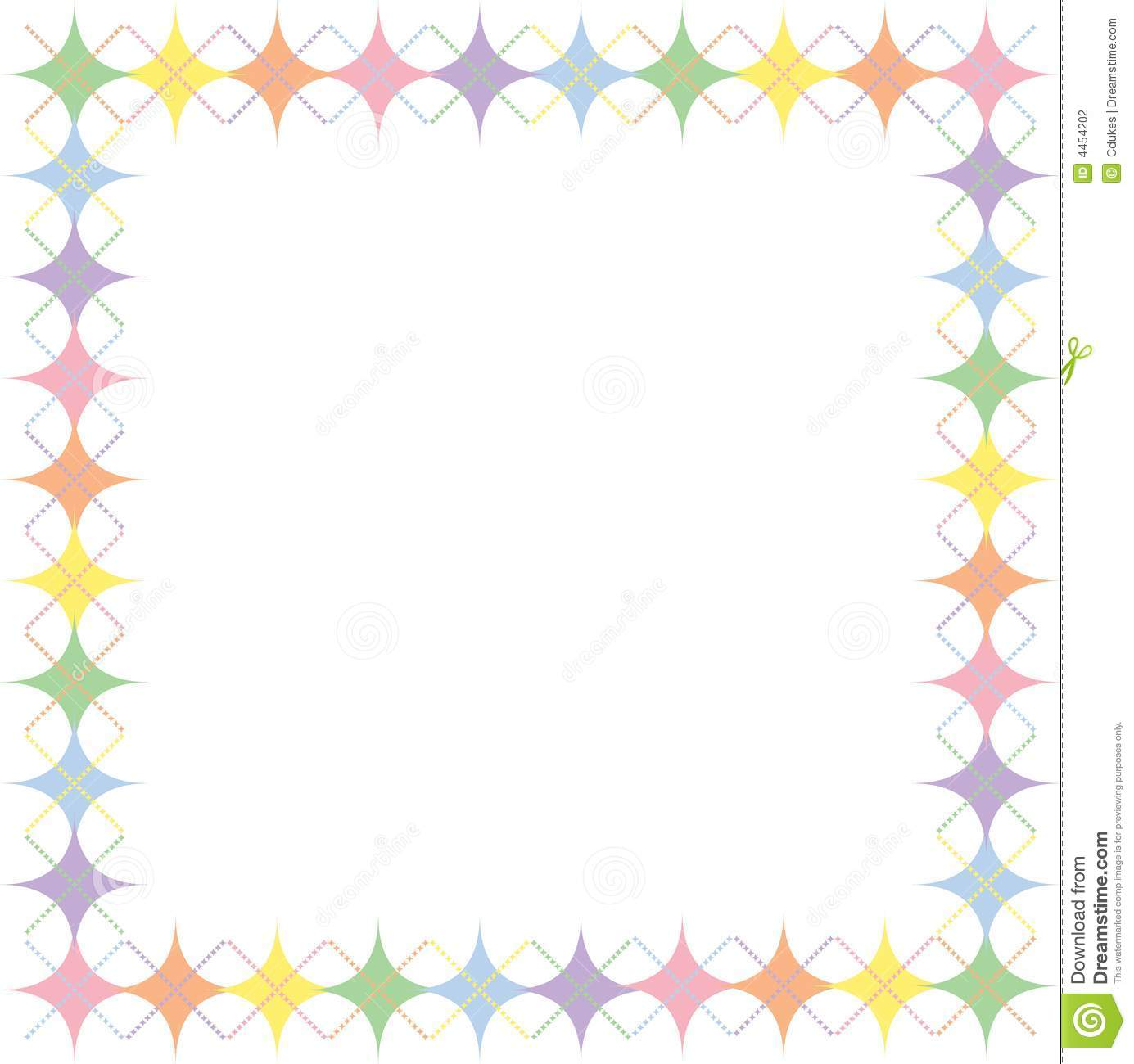 Pastel Rainbow Argyle Stars Border Stock Photography ...