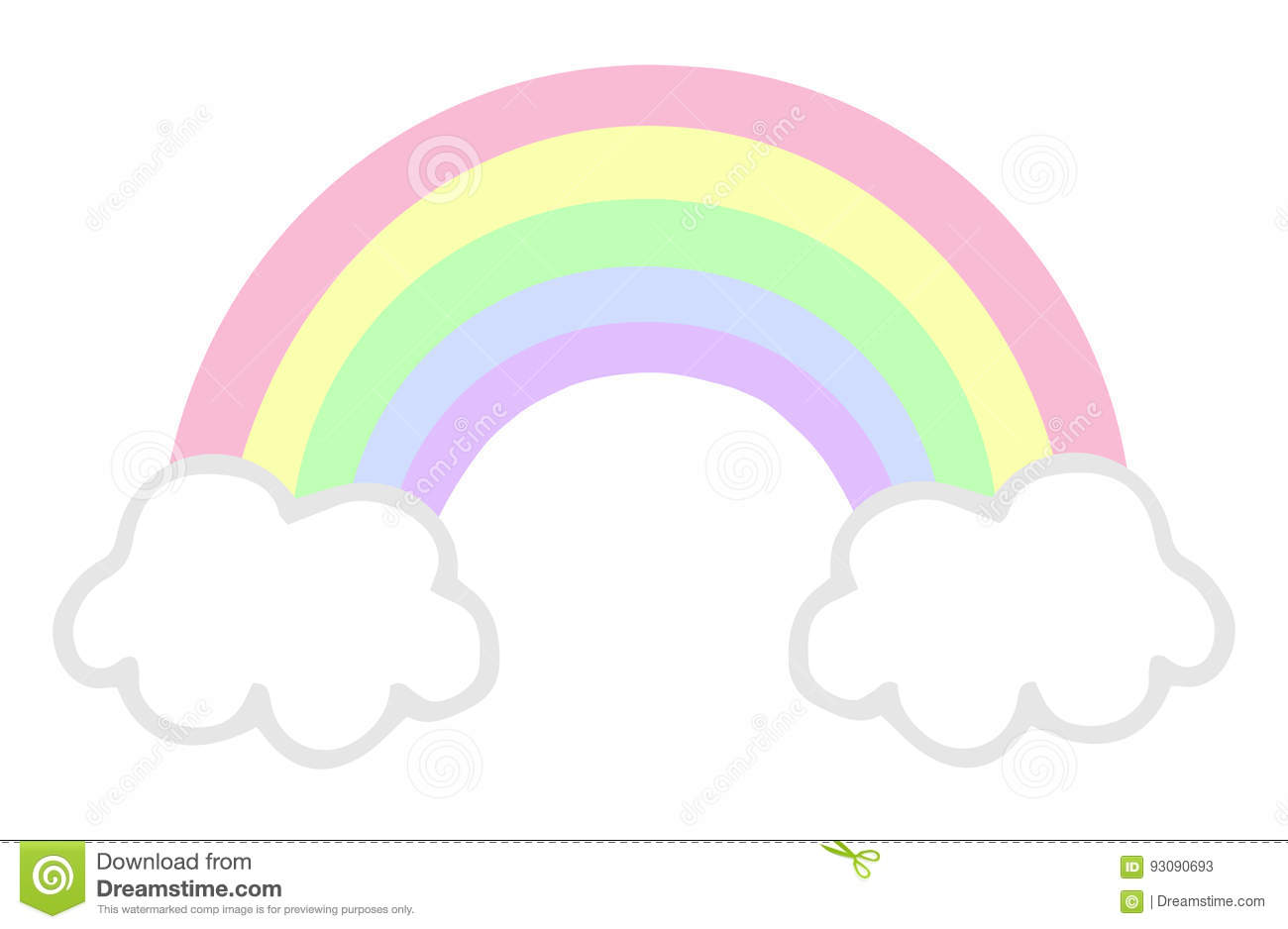 Pastel rainbow stock vector. Illustration of cute, contour ...