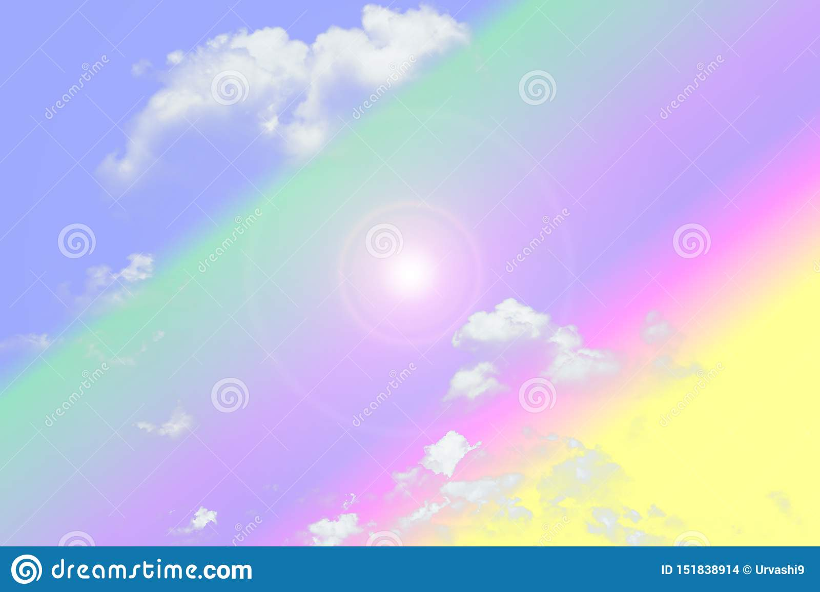 Pastel sky and white cloud, abstract background