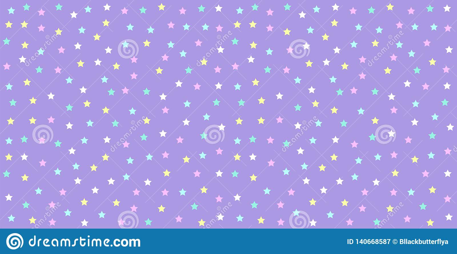Pastel Unicorn Pattern Seamless Star Background In Purple