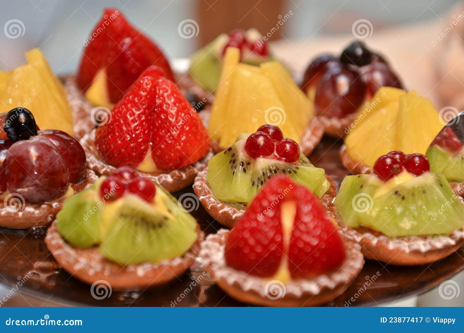 Pasteles de la fruta