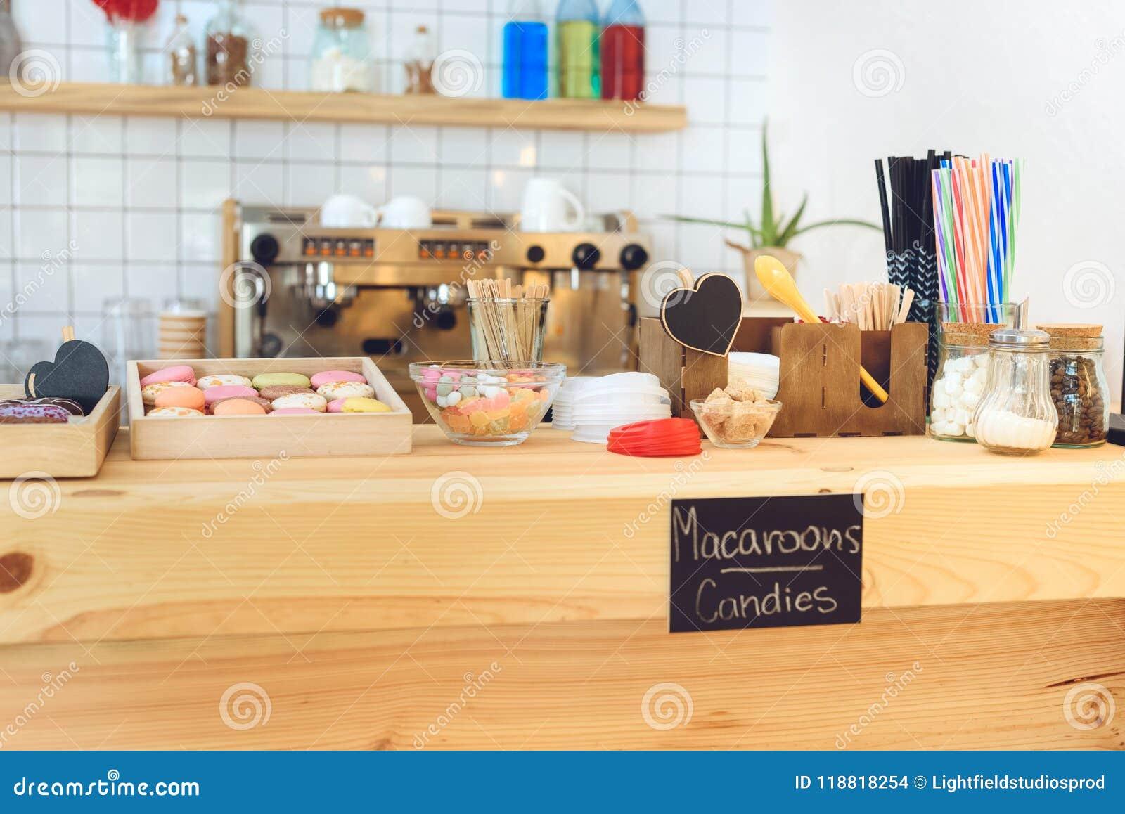 Pasteles en café