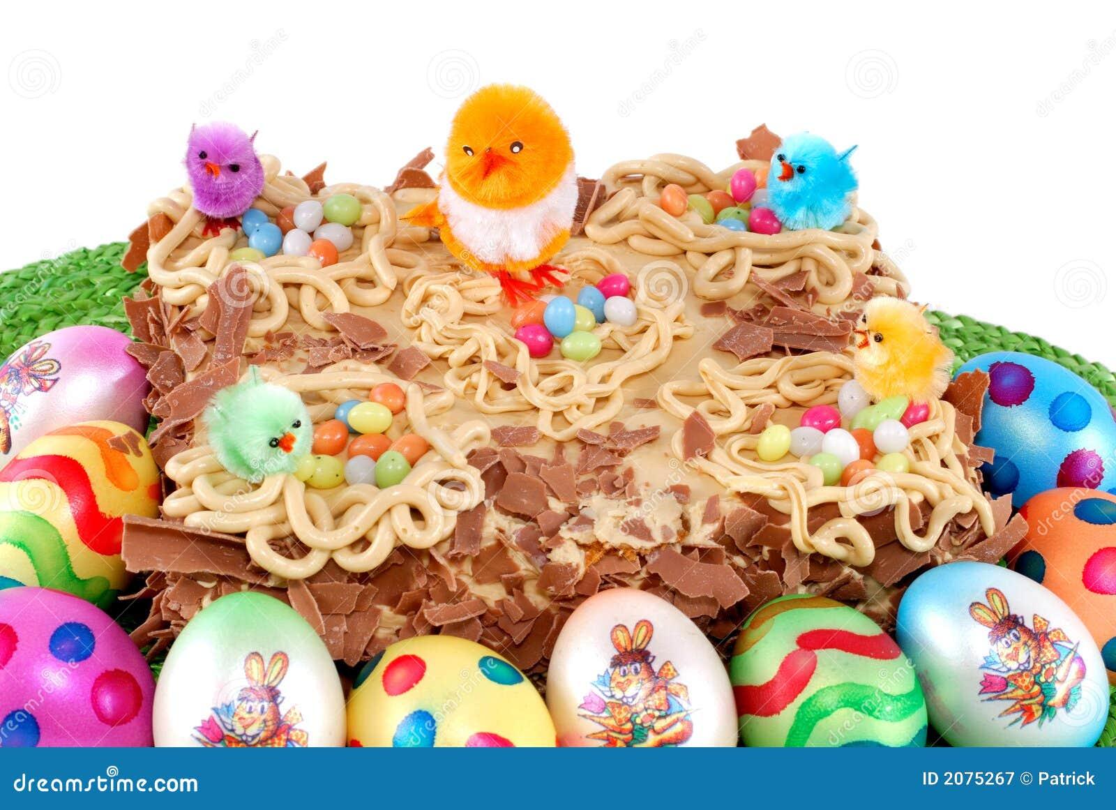 Pasteles Festivos Tarta Adornada De Pascua Imagen De Archivo - Adornos-tarta