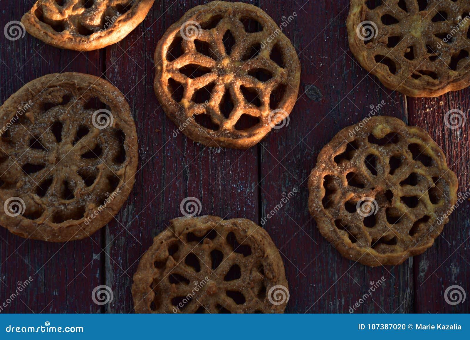 Pasteles mexicanos dulces Bunuelos de las galletas de la comida