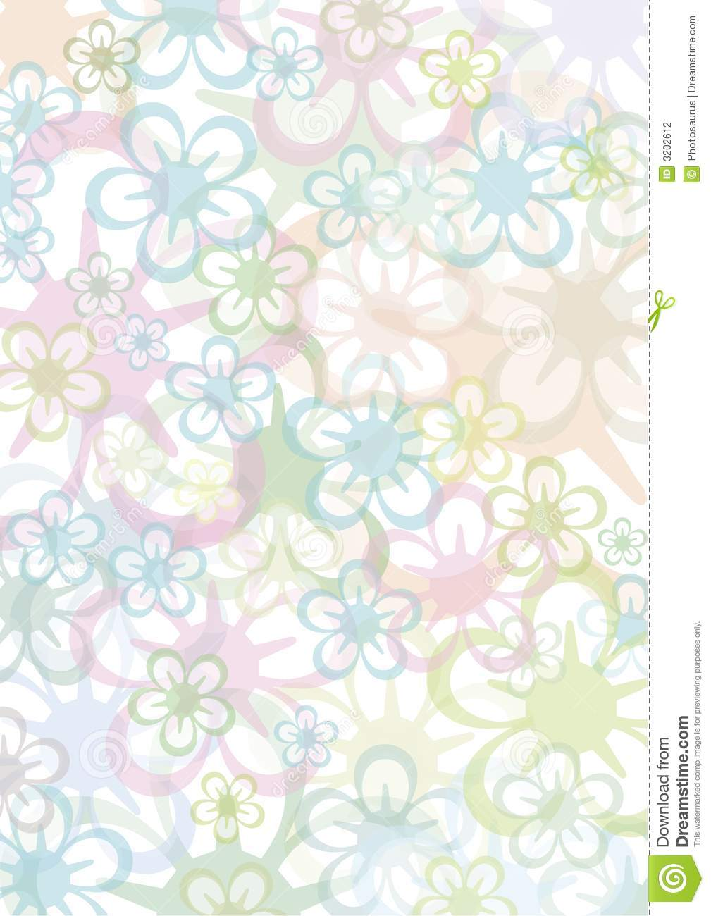Pastell floral background