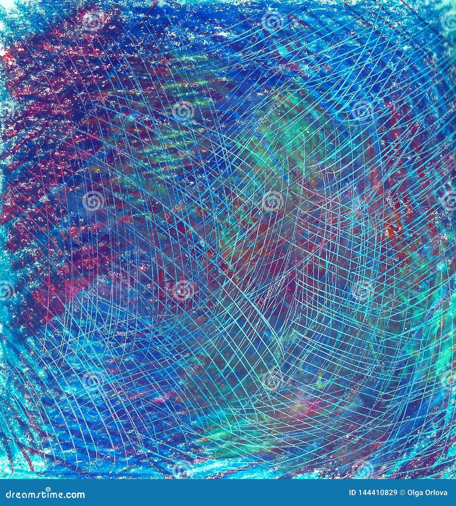 Pastellfärgad bakgrund med skrapor Blått blått, grönt, sjaskigt