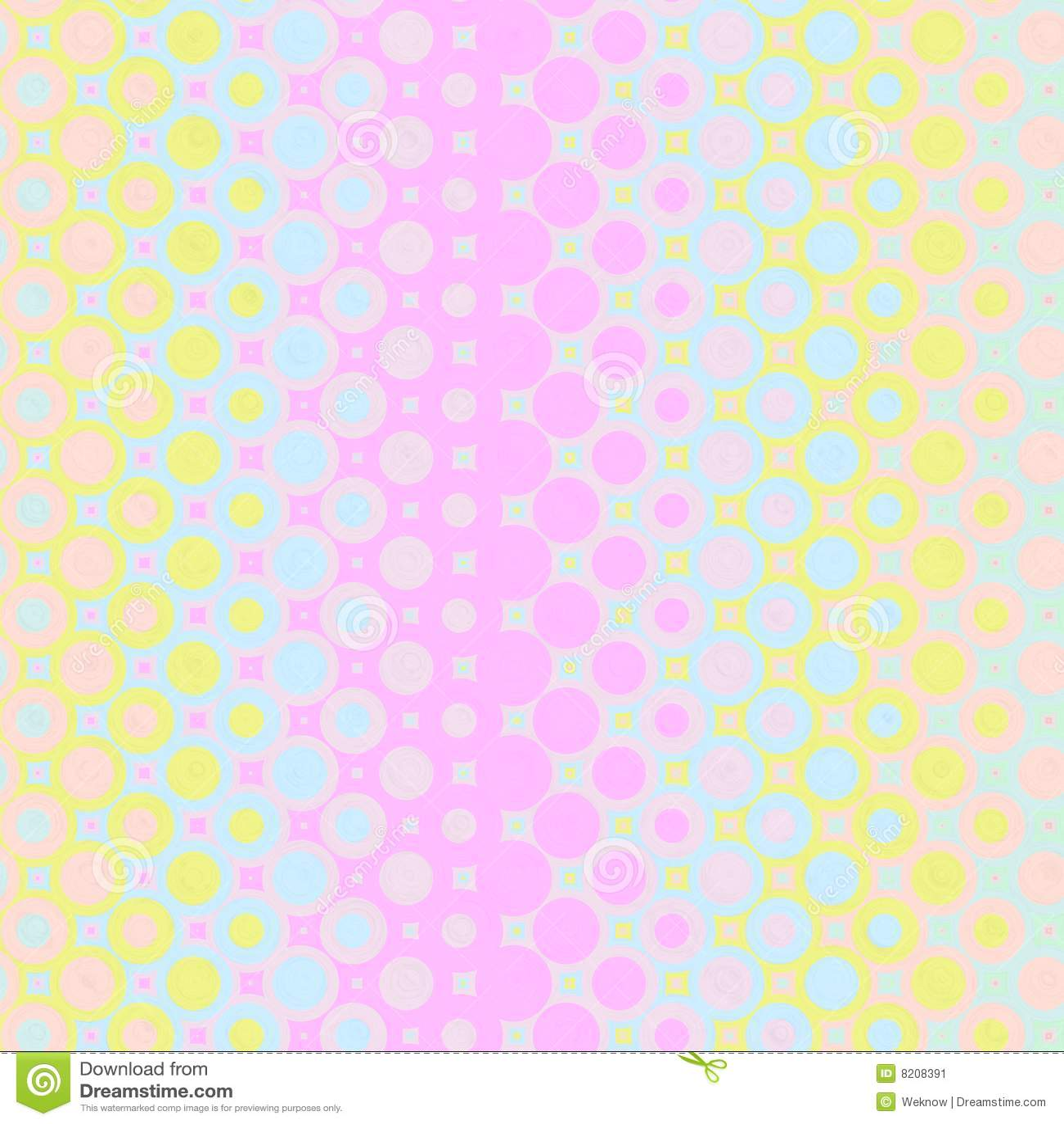 Pastellfärgade modellcirklar