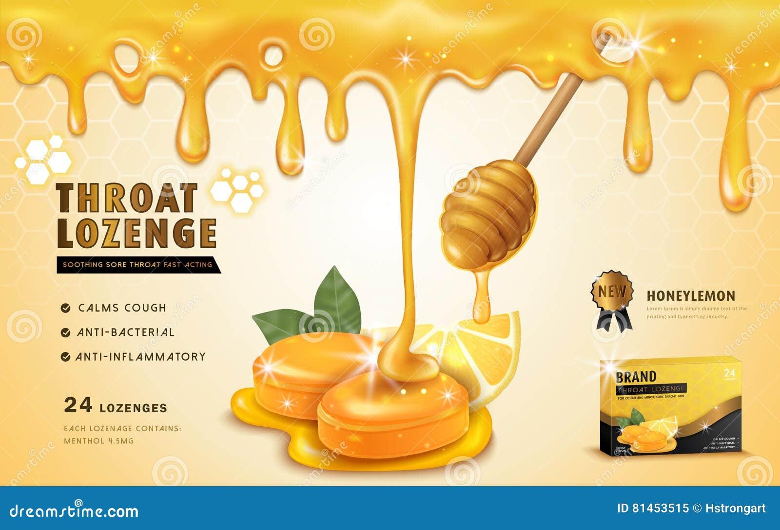 Pastille de gorge de citron de miel