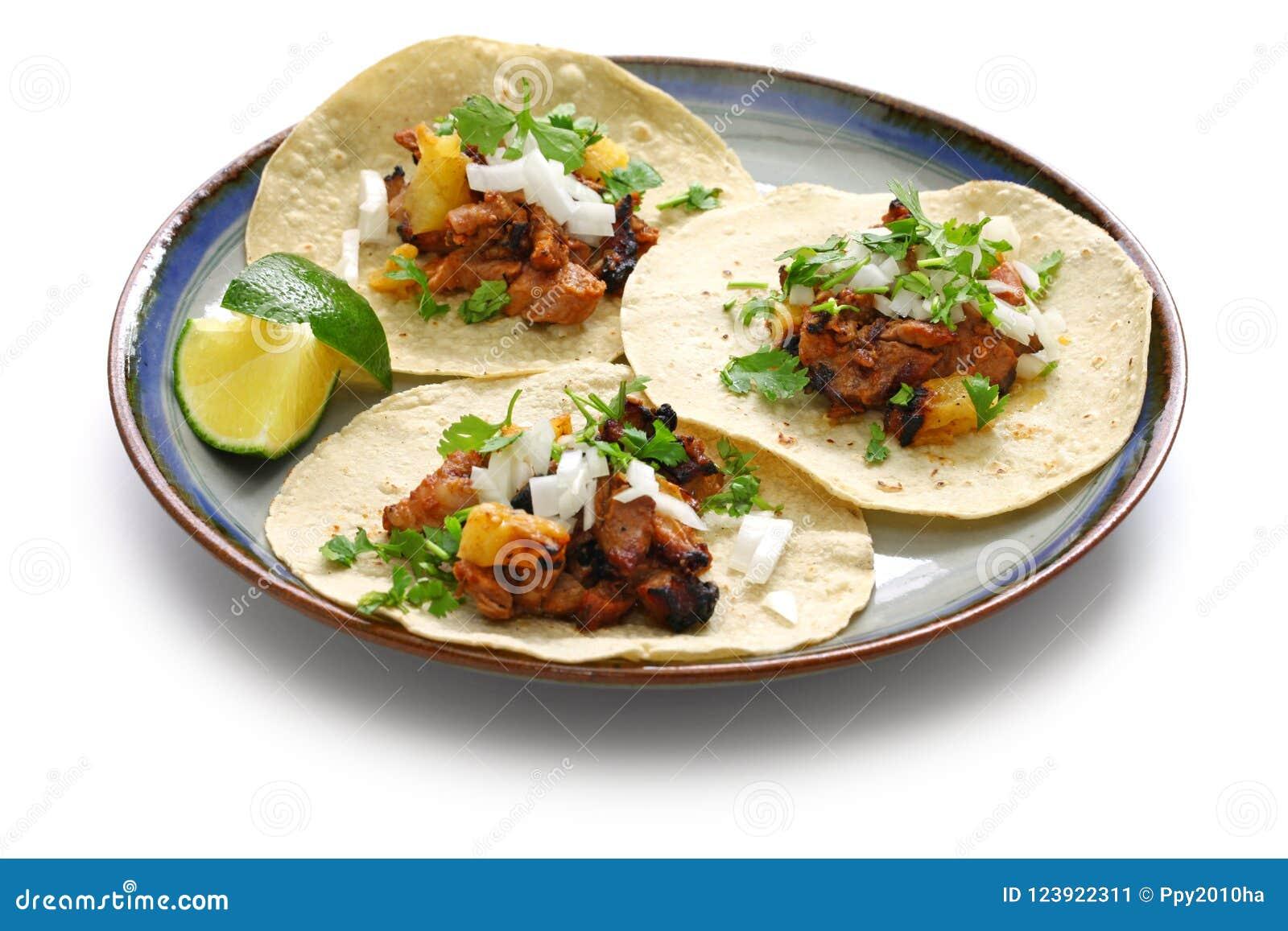 Pastor do al dos tacos, alimento mexicano