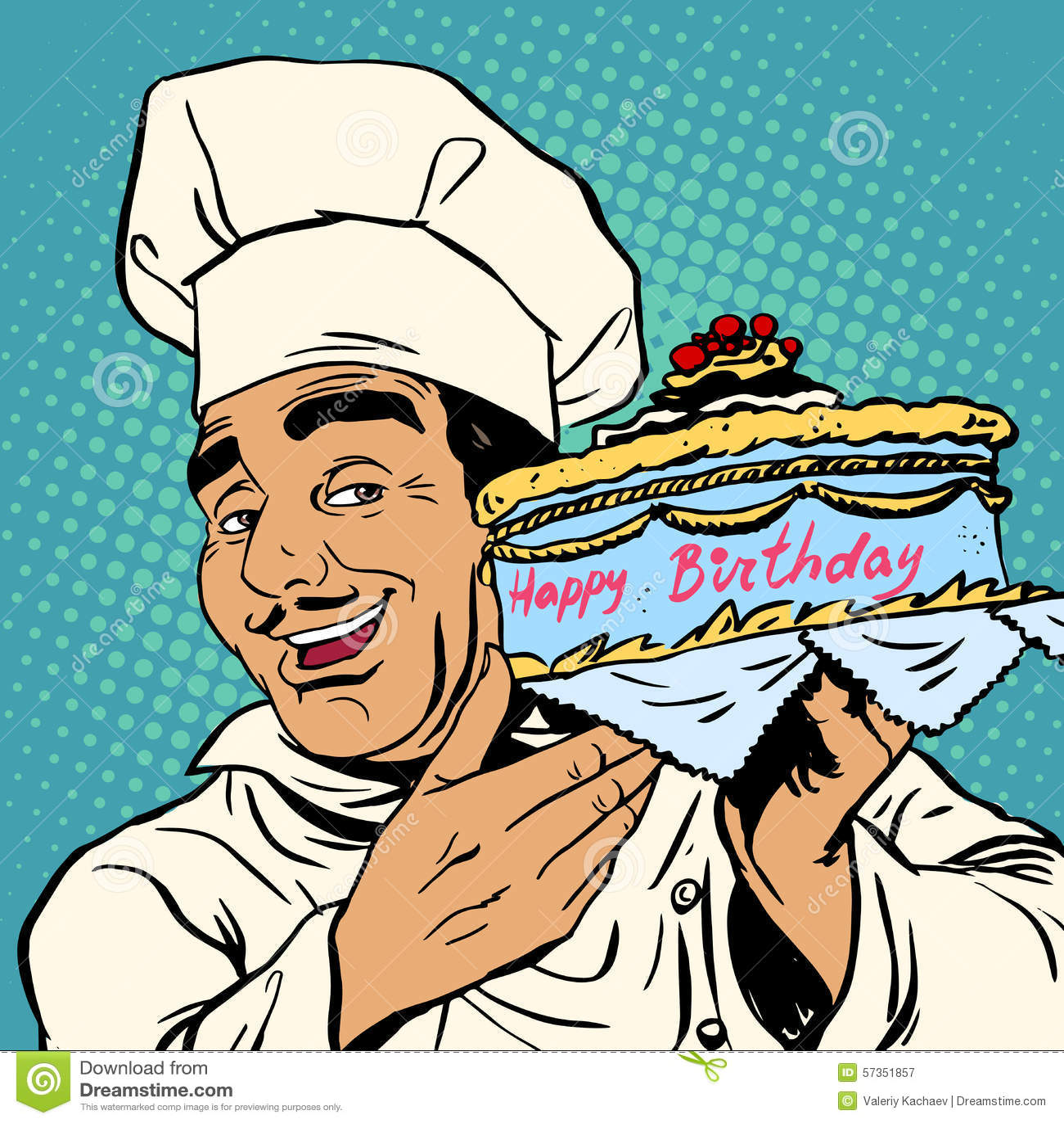 Birthday Cake Design For Chef