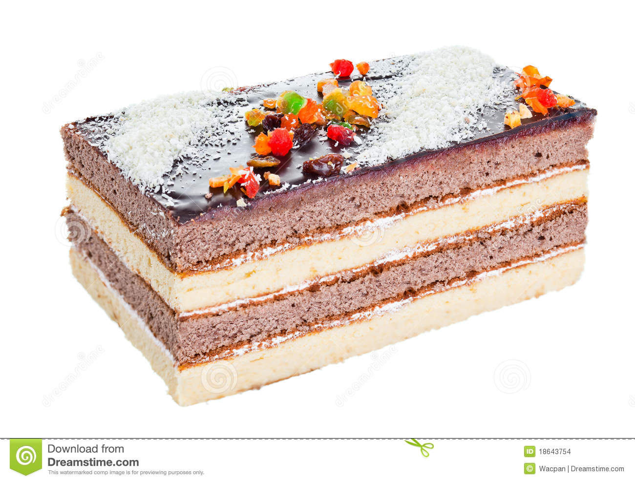 Chocolate Pastry Cake Images : Pastry Chocolate Cake Stock Images - Image: 18643754