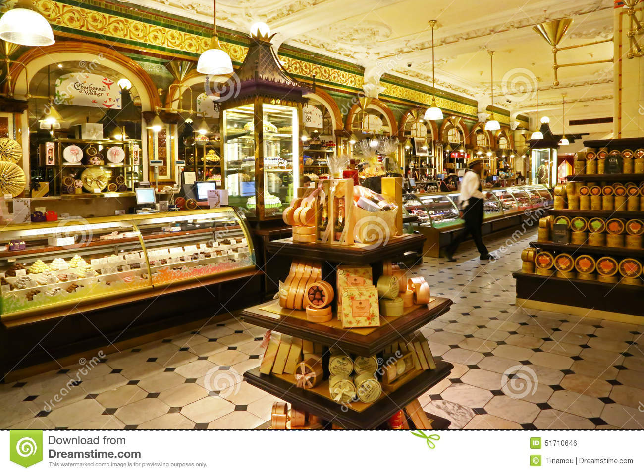Pastry Department In Harrod S Store London Editorial