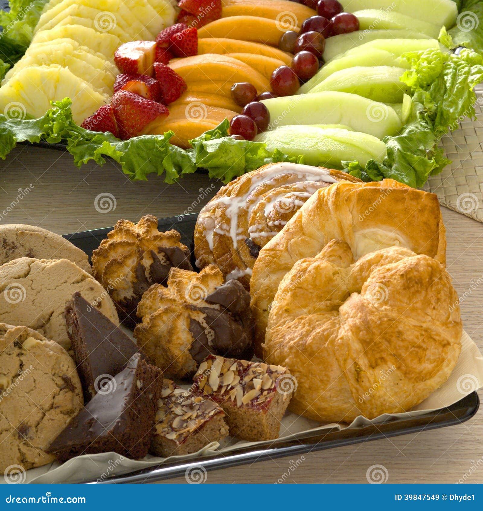 fruit platter tart fruit